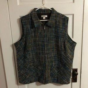 CJ Banks Vest Tweed Style Women's 3X EUC